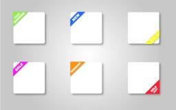 Eshop etiketter Arkivbilder