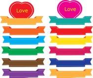 Esign en tappningetikett för förälskelse stock illustrationer