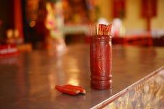 Esiimsi rouge dans le temple chinois à Bangkok, Thaïlande Photos libres de droits