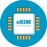 ESIM卡片芯片签到平的样式 图库摄影