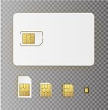 ESIM Embedded SIM card icon symbol concept. new chip mobile cellular communication technology. set SIM-cards for mobile. Devices with chip. vector illustration vector illustration