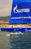 Esimit欧罗巴2 46° Barcolana赛船会, Triest的优胜者 免版税库存照片