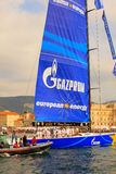 Esimit欧罗巴2 46° Barcolana赛船会, Triest的优胜者 免版税图库摄影