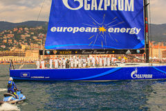 Esimit Europa 2 the winner of the 46° Barcolana regatta, Triest Royalty Free Stock Photo