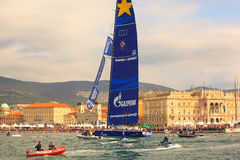 Esimit Europa 2 the winner of the 46° Barcolana regatta, Triest Stock Photo