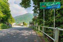 Esino Lario (913 m), Italië Royalty-vrije Stock Fotografie