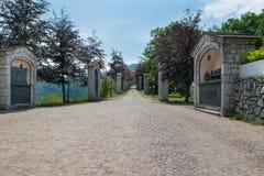 Esino Lario (913 m), Italië - Geschiedenis en heilig art. Royalty-vrije Stock Afbeelding
