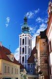 Český Krumlov tower Royalty Free Stock Photos