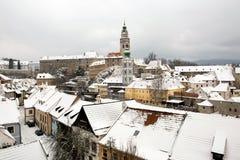 Český Krumlov tower Stock Photo