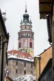 Český Krumlov tower Royalty Free Stock Photography