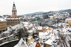 Český Krumlov tower Stock Photography