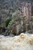 esk wody powodziowej wąwozu launcenston rzeki południe Zdjęcia Royalty Free