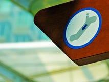 Eskalator w Zimnym mieście zdjęcia stock