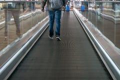 eskalatoru wnętrze Shanghai Pudong lotnisko obraz royalty free