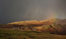 Eskdale rainbow, Cumbrian mountains Royalty Free Stock Image