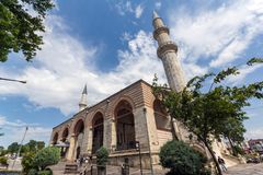 Eski Camii Mosque in the center of city of Edirne, East Thrace, Turkey stock photos