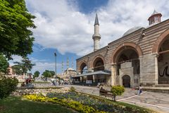 Eski Camii Mosque in the center of city of Edirne, East Thrace, Turkey royalty free stock photo