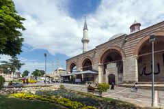 Eski Camii Mosque in the center of city of Edirne, East Thrace, Turkey stock image