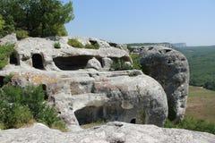 Eski-Kermen - un du grand crime de villes de caverne Photographie stock