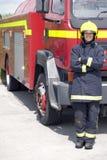 żeński strażak Zdjęcia Royalty Free