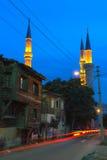 Eskidzhami mosque in the night city Edirne Royalty Free Stock Photo