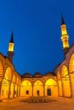 Eskidzhami mosque in the night city Edirne Royalty Free Stock Image