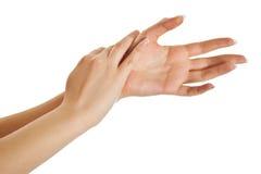 żeńskie ręki Fotografia Royalty Free