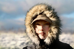 Eskimo. Photo of attractive woman (eskimo Stock Image