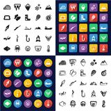 Eskimo All in One Icons Black & White Color Flat Design Freehand Set. This image is a vector illustration and can be scaled to any size without loss of Royalty Free Stock Image