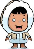 Eskimo Child. A cartoon Eskimo child smiling Stock Image