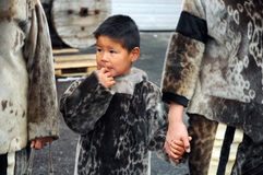 Eskimo child Stock Image