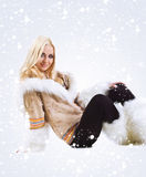 Eskimo cute woman Royalty Free Stock Photo