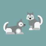 Eskimo dog vector illustration. Royalty Free Stock Photo