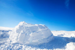 Eskimo Igloo. A half built igloo in the winter Royalty Free Stock Image