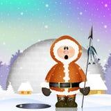 Eskimo in the igloo Stock Image