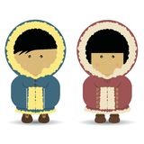 Eskimo / Inuit Boy & Girl Stock Photos