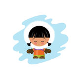 Eskimo kid illustration Royalty Free Stock Photography