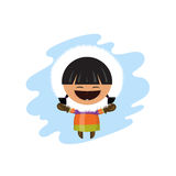Eskimo kid illustration. For you design Stock Photos