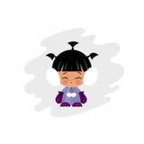 Eskimo kid illustration Stock Image