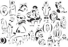 Eskimo's Royalty-vrije Stock Afbeelding