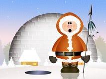 Eskimoska kreskówka Zdjęcie Royalty Free