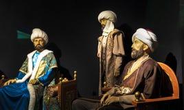 Eskisehir/Turchia 23 aprile 2019: Museo della scultura della cera con i sultani dell'ottomano fotografie stock