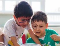 Eskisehir Turcja, Maj, - 05, 2017: Preschool żartuje uczęszczać zwierzęcy dnia wydarzenie w dziecinu Zdjęcie Royalty Free