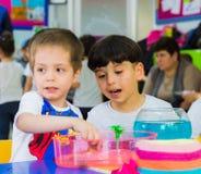 Eskisehir Turcja, Maj, - 05, 2017: Preschool żartuje uczęszczać zwierzęcy dnia wydarzenie w dziecinu Obrazy Royalty Free