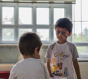 Eskisehir Turcja, Maj, - 05, 2017: Preschool żartuje uczęszczać zwierzęcy dnia wydarzenie w dziecinu Obraz Royalty Free