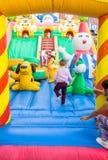 Eskisehir, Turkey - June 25, 2017: Children playing in colorful playground in Eskisehir, Turkey. Stock Images