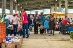 Eskisehir, Turkey - June 15, 2017: People at traditional typical Turkish grocery bazaar in Eskisehir, Turkey royalty free stock photo