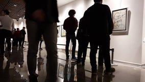Eskisehir, Turkey - March 4, 2017: Exhibition at Contemporary Art Gallery stock video