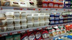 Eskisehir, Turkey - March 15, 2017: Food supplies for sale on market shelves. Eskisehir, Turkey - March 15, 2017: Food supplies for sale on supermarket shelves stock video footage