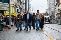 Eskisehir, Turkey - March 13, 2017: People walking in the street Royalty Free Stock Images